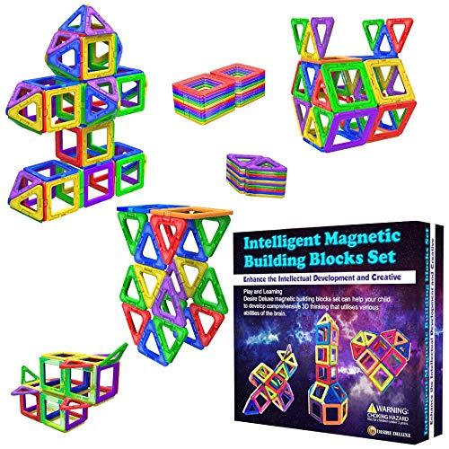 Desire Deluxe Magnetische Bausteine Magnet Montessori Spielzeug für Kinder 40PC Set Teilen ab 3 4 5 6 7 8...
