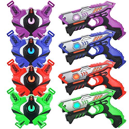 TINOTEEN Laser Tag Guns Set mit Westen, Infrarot Guns Set mit 4...