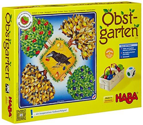 Haba 4170 - Obstgarten Spannendes Würfelspiel, mit 40 Früchten aus...