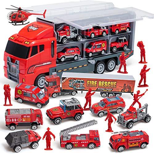 JOYIN 10 in 1 Mini Feuerwehrauto Rettungsfahrzeug Metall Auto...