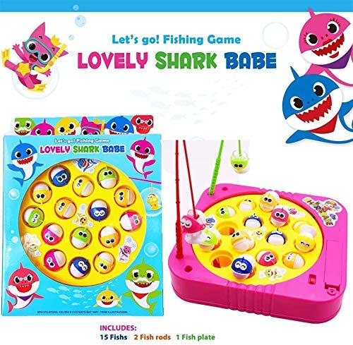 JX Angelspiel Spielzeug Set mit einlagigem Drehbrett mit...