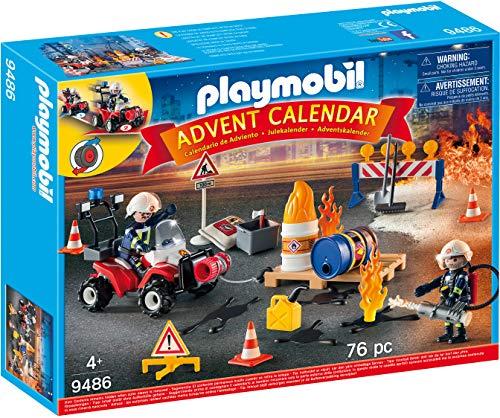 PLAYMOBIL Adventskalender 9486 Feuerwehreinsatz auf der Baustelle, Ab...