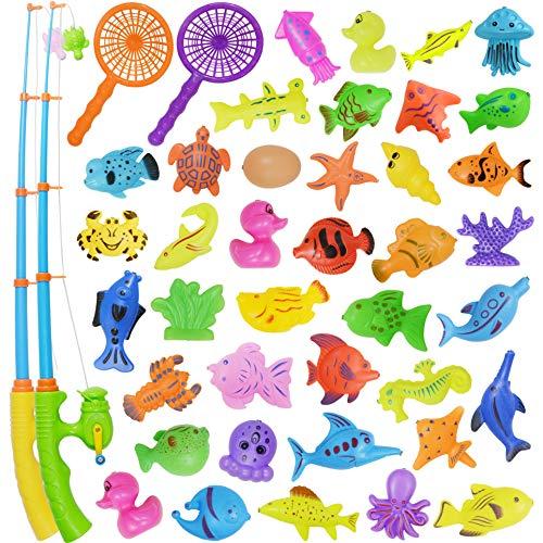 Nunki Toy Angeln Spielzeug, Badespielzeug, 39 Stücke Magnetisches...