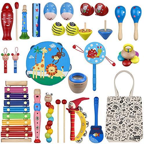 Anpro 27 Stück Musikinstrumente Set, Musical Instruments Spielzeug...