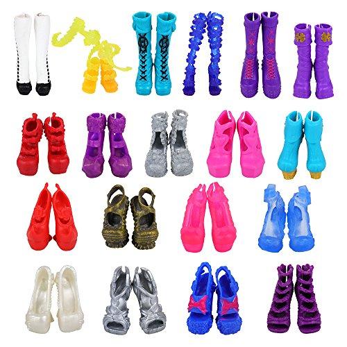 VILLAVIVI 10 Paar Schuhe Pumps Stiefel Sandale Boot für Monster high...