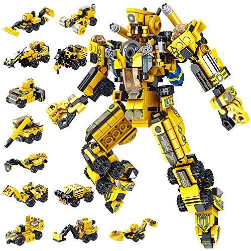 VATOS Roboter Bausteine Spielzeug ab 6 7 8 9 10 Jahren für Jungen, 573 Teile Konstruktionsspielzeug 25-in-1...
