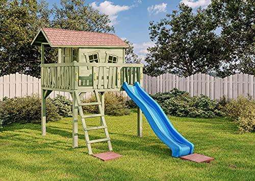 Kibungi Spielhaus Crazy Maxi Set inklusive Montagematerial aus Holz