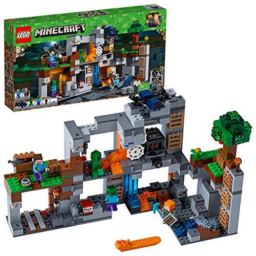 LEGO 21147 Minecraft Abenteuer in den Felsen (Vom Hersteller nicht...