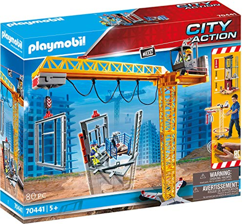 PLAYMOBIL City Action 70441 RC-Baukran mit Bauteil, Inkl.... *