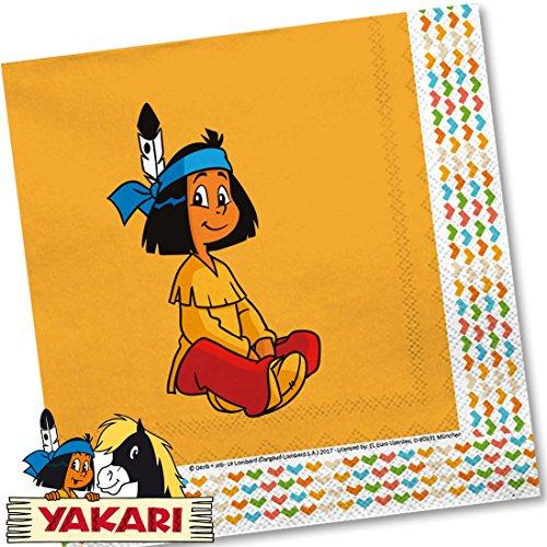 Yakari 20 Servietten Kinderparty und Kindergeburtstag...