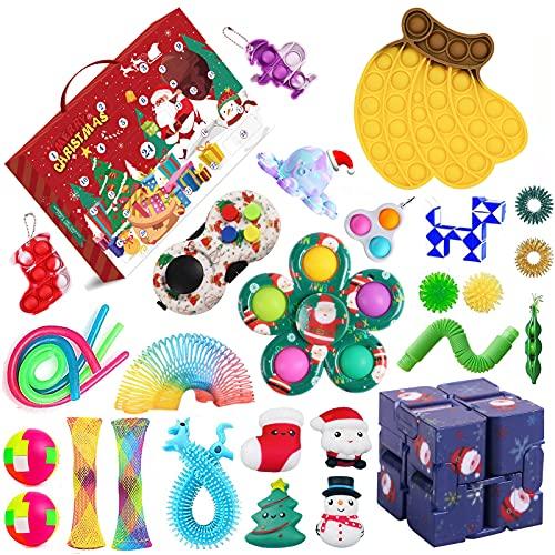2021 Fidget Adventskalender Spielzeug für Kinder, Weihnachten...