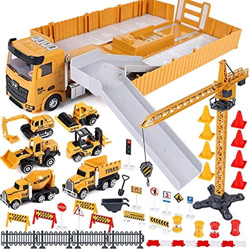 Baufahrzeuge Kinder groß LKW Fahrzeug Spielzeug mit Kran Spielzeug...