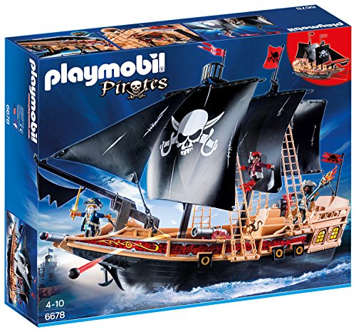 PLAYMOBIL Pirates 6678 Piraten-Kampfschiff inkl. Kanonen,...
