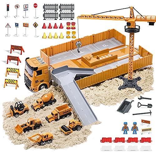 ORORTU Baufahrzeug LKW Spielzeug für Jungen Kinder mit Musik &...