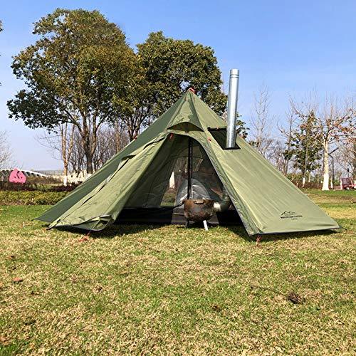 Outdoor-Zelte Tipi-Zelt Wasserdicht Vier Jahreszeiten Familienpyramide...