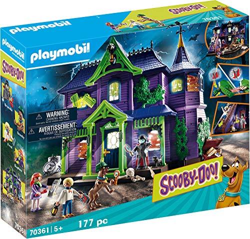 PLAYMOBIL SCOOBY-DOO! 70361 Abenteuer im Geisterhaus, Mit Licht- und...