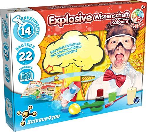 Science4you 616073 Explosive Wissenschaft Experimentierkasten, 14...