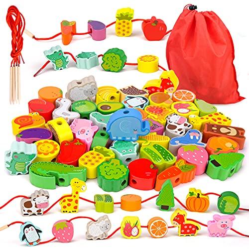 Montessori Spielzeug ab 2 3 4 Jahre Mädchen Jungen,Holzspielzeug...