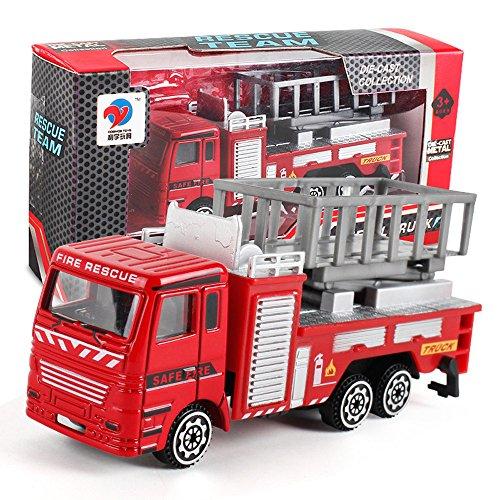 Realistisches Notfall-Feuerwehrauto Spielzeug für Kinder Jungen ab 3...