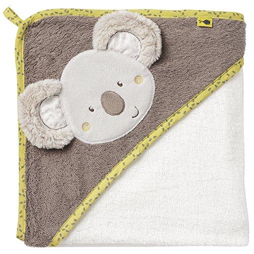 Fehn 064179 Kapuzenbadetuch Australia – Bade-Poncho aus Baumwolle mit süßem Koala für Babys und...