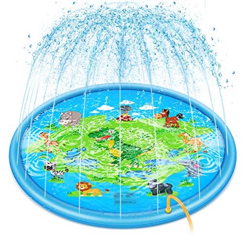Achort Sprinkler für Kinder Sprinkler Wasser-Spielmatte Splash Play...