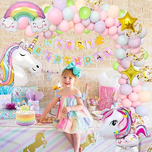 Einhorn Geburtstagsdeko Mädchen Einhorn Party Dekorationen Supplies...
