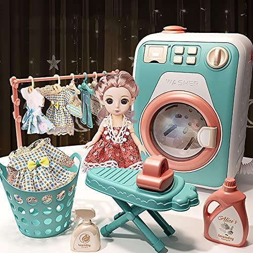 Kinderwaschmaschine mit Funktion,mit Rotierender Waschtrommel Licht-...