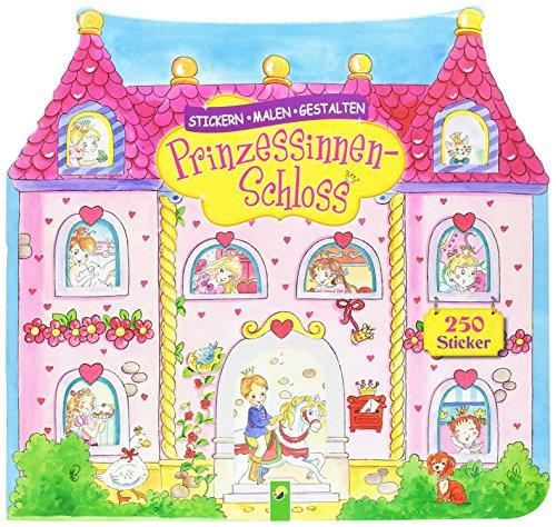 Prinzessinnenschloß: Stickern, Malen, Gestalten
