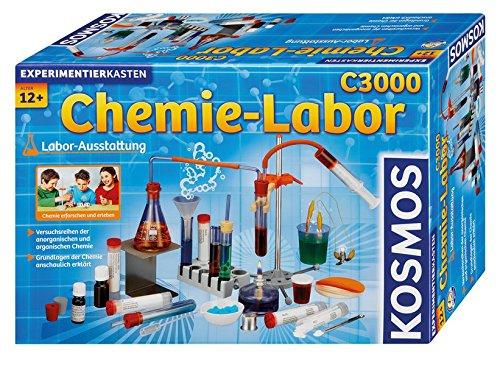KOSMOS C3000 - Chemielabor, hochwertiges Labor für 330 anspruchsvolle Experimente, Chemie für Kinder ab 12...