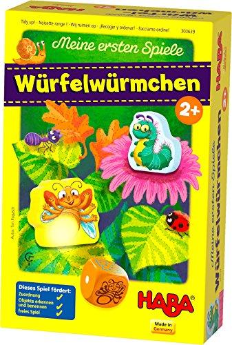 HABA 303639 - Meine ersten Spiele – Würfelwürmchen | Liebevoll...