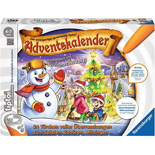 Ravensburger 00778 tiptoi Adventskalender-das Weihnachtsdorf
