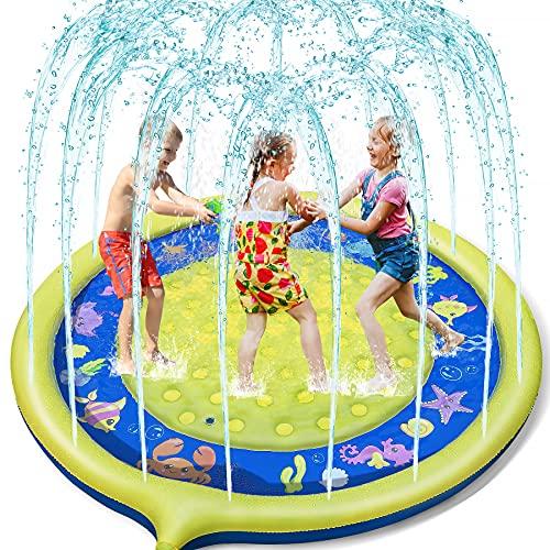 Jojoin Splash Pad, Anti-Rutsch Spielzeug Sprinkler Play Matte, 170CM...