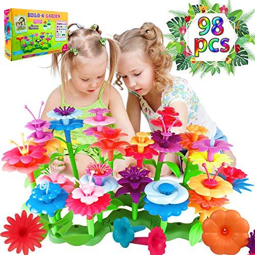 Blumengarten Spielzeug für Mädchen, DIY Bouquet Sets Geschenk für 3-6 Jährige Mädchen kinder Blumengarten...