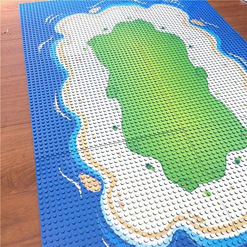 Modbrix Bausteine Insel 6 x Grundplatte Inselplatte Set 32 x 32 Noppen...