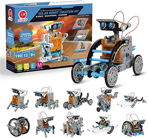 CIRO Toys Solar Roboter Kinder Konstruktionsspielzeug ab 8 Jahre,...