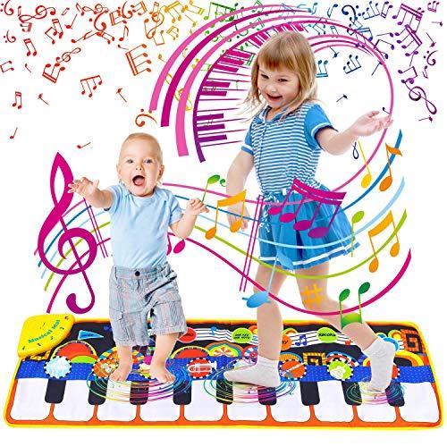 Sinwind Klavier Matte, Piano Mat mit 19 Tasten Touch Play Decke, 8...