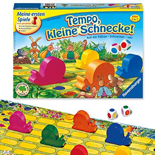 Ravensburger Kinderspiel Tempo kleine Schnecke, Das...