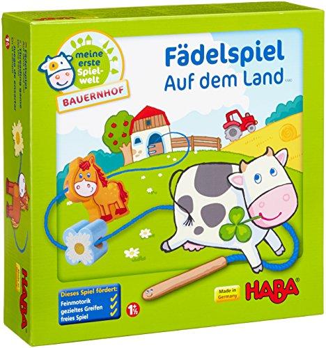 Haba 5580 - Meine erste Spielwelt Bauernhof Fädelspiel auf dem Land,...