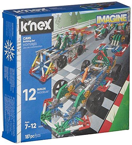 K'NEX 33867 - Bau- und Konstruktionsspielzeug Set Cars, Baukasten Fahrzeuge mit 187 Teilen, Konstruktionsset...