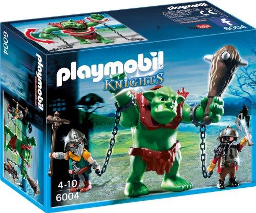 PLAYMOBIL Knights 6004 Riesentroll mit Zwergenkämpfern, Ab 4 Jahren *