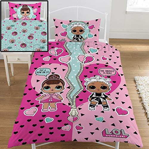 L.O.L. Surprise ! Bettbezug LOL Baby Bed Sheet mit Kissenbezug Confetti Pop
