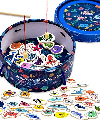 Jaques of London Magnetisches Angelspiel Holzspielzeug Angelspiel - Perfektes Kleinkindspielzeug Empfohlenes...