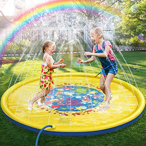 Jojoin 170CM Splash Pad & Spielzeug Sprinkler Play Matte, Wasserspielzeug Spielmatte, Summer Outdoor Garten...