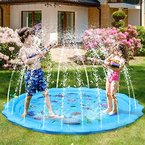Fostoy Sprinkler Play Matte, Wasserspielmatte Garten, Sommer Garten...