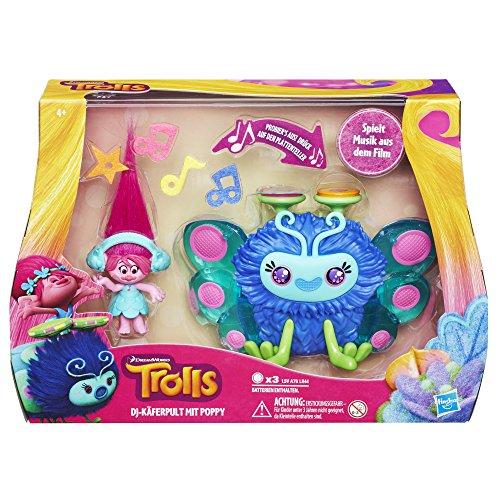 Hasbro Trolls B9885100 - Trollstadt DJ-Käferpult mit Poppy Spielset