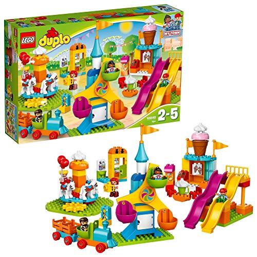 LEGO 10840 DUPLO Großer Jahrmarkt mit Zug & Rutsche