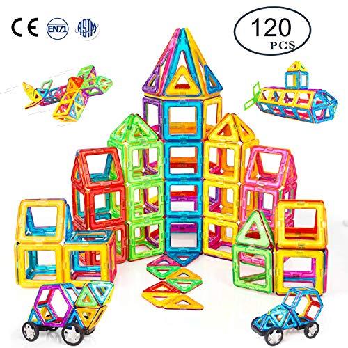 Condis Magnetische Bausteine 120 Teile Magnetspielzeug Magnete Kinder Magnetbausteine Magnet Spielzeug Kinder...
