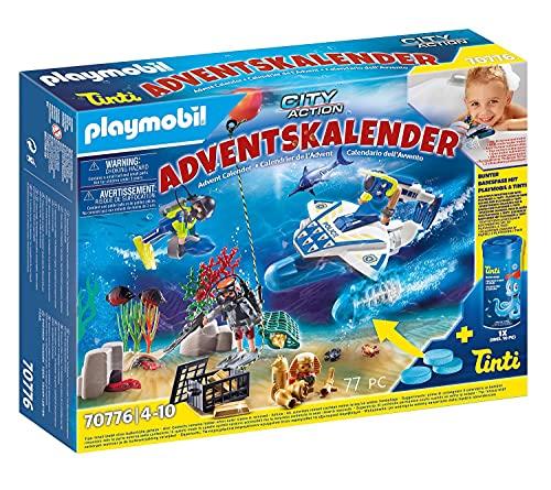 PLAYMOBIL Adventskalender 70776 Badespaß Polizeitaucheinsatz...
