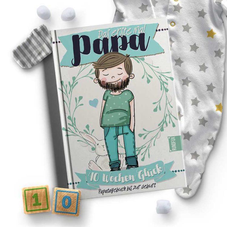 Babyalbum und Schwangerschaftsbuch für den Vater