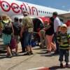 Im Flugzeug mit Kindern